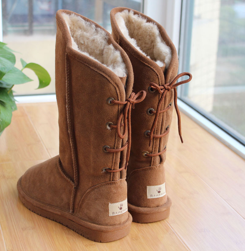 bearpaw-eat-snow-boots-gaotong-back-strap-genuine-leather-wool-boots-cross-strap-winter-boots